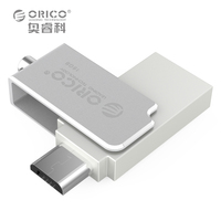 ORICO U2 16G SV Mini Metal U Disk Support OTG 2 In 1 Two Connector