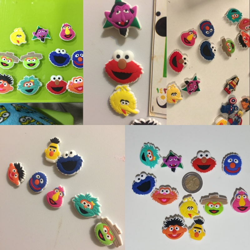 2setslot 22pcs Sesame Street Cartoon PVC 1.3CM Blackboard Fridge Magnets Kids Party Gifts Magnetic Stickers Home Decoration