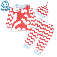 Children S Clothing Fall New Children Striped Shirt Pants Hat 3 Sets Of Cotton Fashion Suits