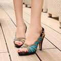 2017 novo design de estilo gladiador sandálias das mulheres do dedo do pé aberto sapatos de salto alto mulheres bombas mulheres sapatos de verão Zapatos Femeninos