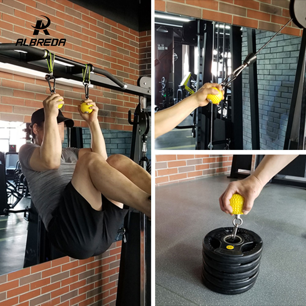 ALBREDA 7,2/9,7 cm brazo de entrenamiento y los músculos de la espalda fortalecen la bola de escalada de muñeca Dedo de entrenamiento de mano la fuerza de agarre de la bola