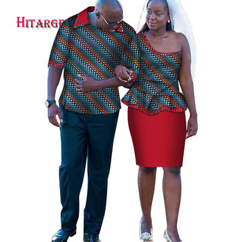 508557f9662 african couple clothing Men s Shirt+dashiki dress Women s Two Piece Set african  couple dress Party wedding couple dress WYQ166 – Twizamart.ca