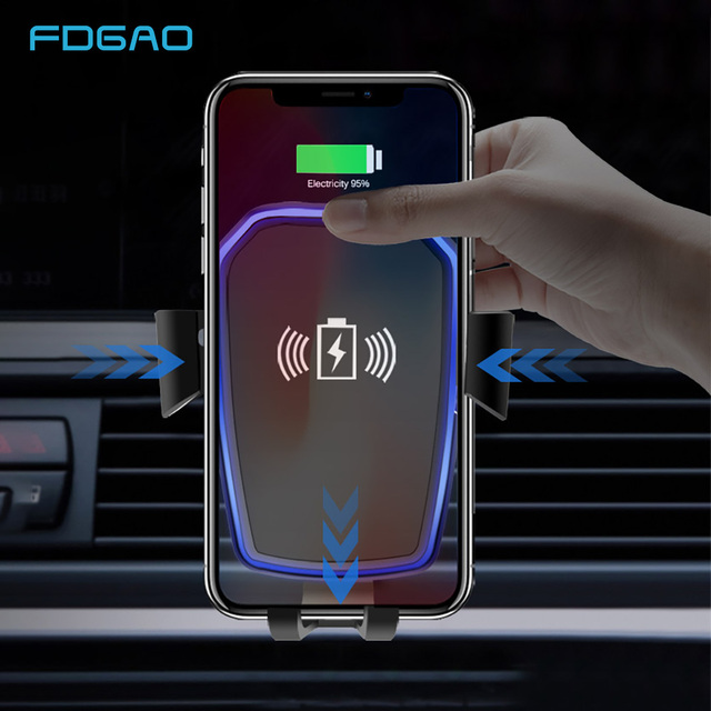FDGAO Car Wireless Charger For iPhone X 8 XS Max XR Qi Wireless
