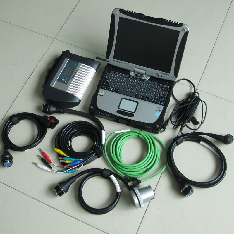 For MB Star Diagnostic-tool mb star c4 with laptop Toughbook CF-19 with MB Star C4 Sd Connect ready to use цена 2017