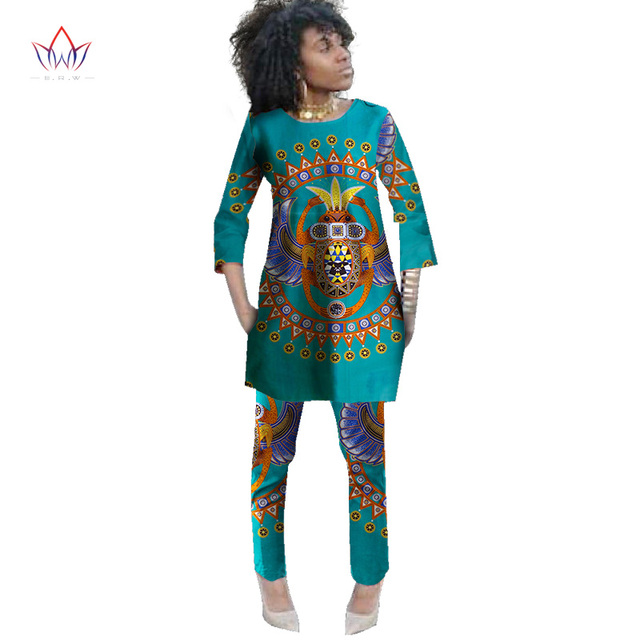2019 Spring Two Piece Set Wax Top and Pants Women Suits Two Piece Set  African Women Clothing Plus Size 6xl Brand Custom WY484 c651ba4d3e4a