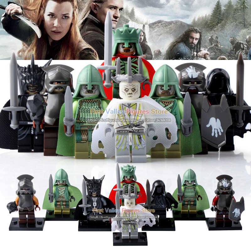 El dr. TONG Lord of the Rings el rey de las brujas, rey de los Anillos, rey de los muertos, Mordor, Orc, figura de acción, bloques de construcción para niños juguetes PG8036