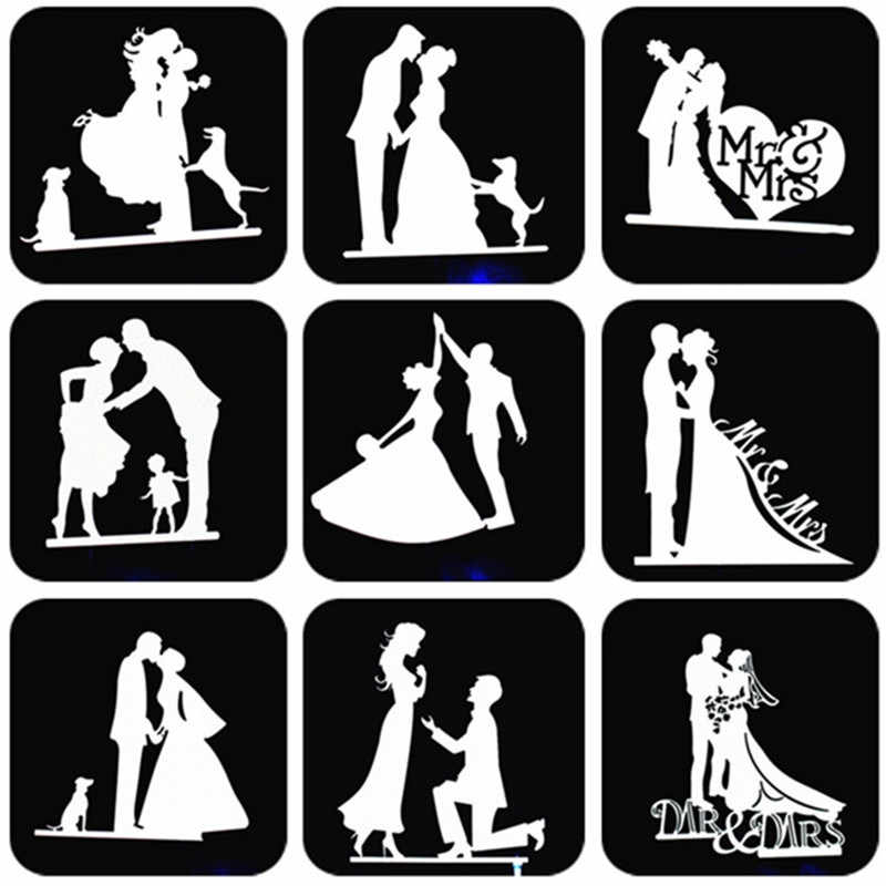 Bride And Groom Cake Topper Party Supplies Mr Mrs Wedding Cake Topper Weeding Decoration Party Favors Silver Wedding Cake Topper