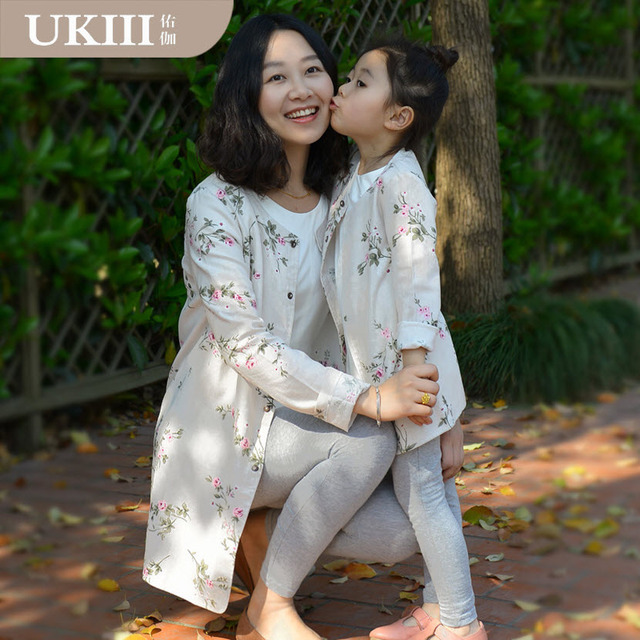2016 New Parenting Series Family fitted clothing Paternity Coat Girls Lady Mother and daughter matching clothes women Outerwear