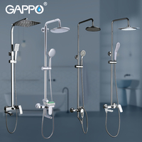 GAPPO Shower System Bathroom Shower Set Faucet Taps Bath Mixer Bathtub Faucet Set Waterfall Shower Set Chrome Rain Shower Head