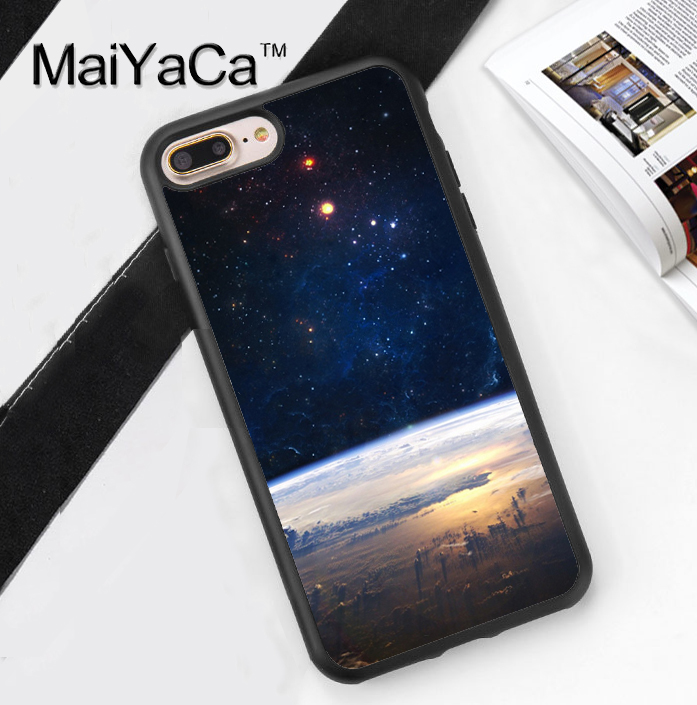 Stars Outer Space Earth Sun Style Soft TPU Case for iPhone 7 7Plus for iPhone 6 6S Plus 5 5S 5C SE Soft Rubber Phone Back Cover