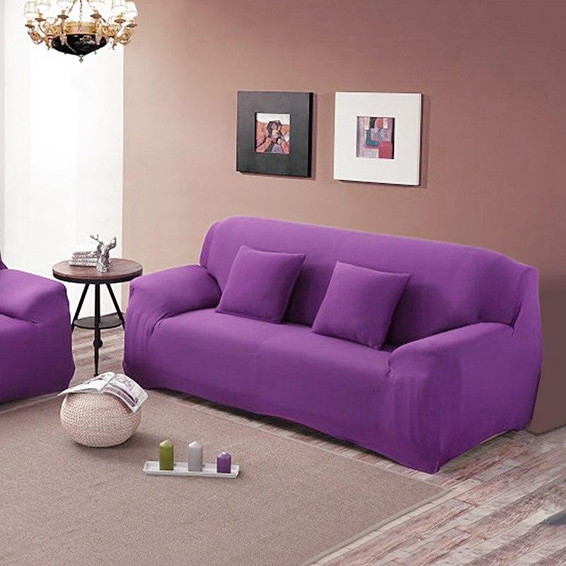 Bas prix dédouanement 3 places tissu extensible Fit canapé salon maison housse amovible housses nouveau canapé couverture livraison gratuite