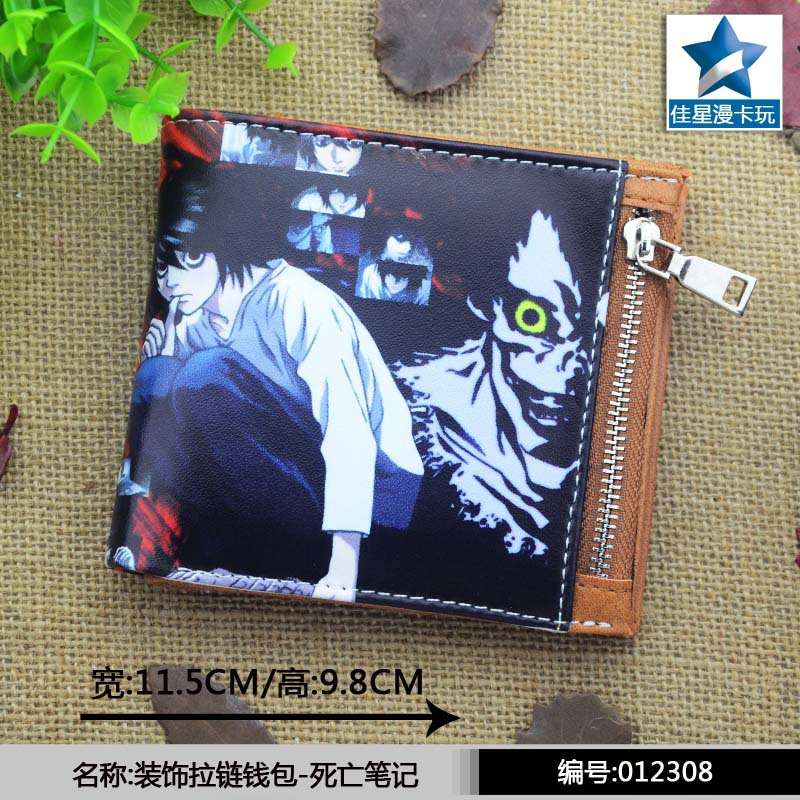 Japan anime Death Note wallet Cosplay men women Bifold coin Purse 2017 hot sale death note notebook