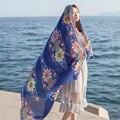 Женщины Лето Саржа Хлопок Полосой Шарф Пляж Солнцезащитный Крем Платки Хиджаб Шарфы Для Женщин Женский Украл Обертывания Платки одеяло шарф