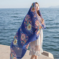 Women Summer Twill Cotton Stripe Scarf Beach Wraps Sunscreen Shawls Hijab Scarves For Women Female Stole Shawls blanket scarf