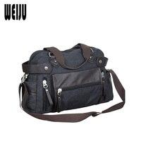 WEIJU Canvas Bag Handbag Men Shoulder Crossbody Bags For Women 2017 New Travel Handbags Casual Bag