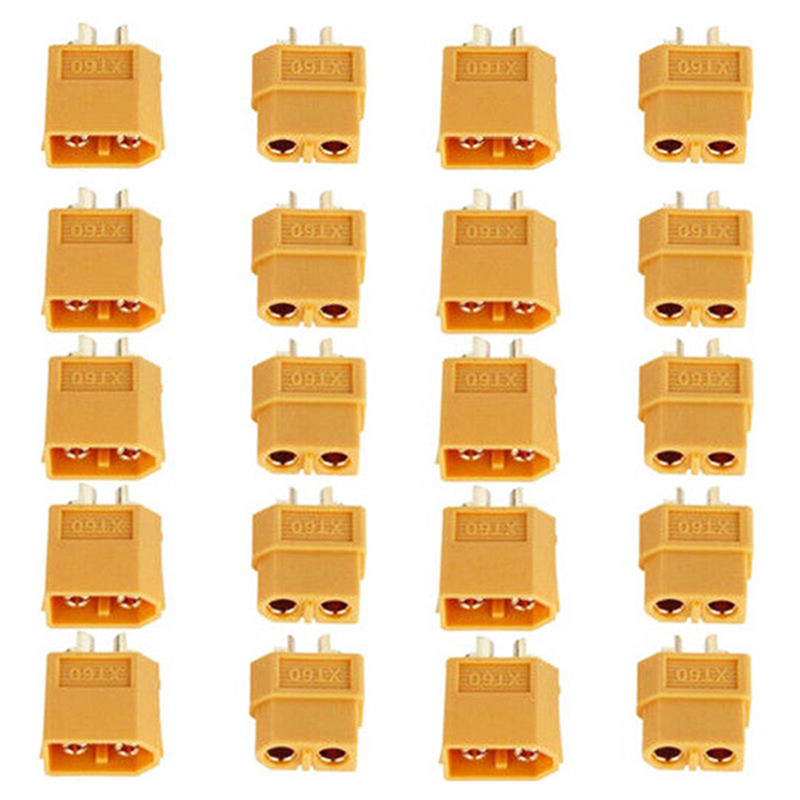 2/10/20PCS XT60 XT-60 Male Female Bullet Connectors Plugs For RC Lipo Battery Quadcopter Multicopter(China)