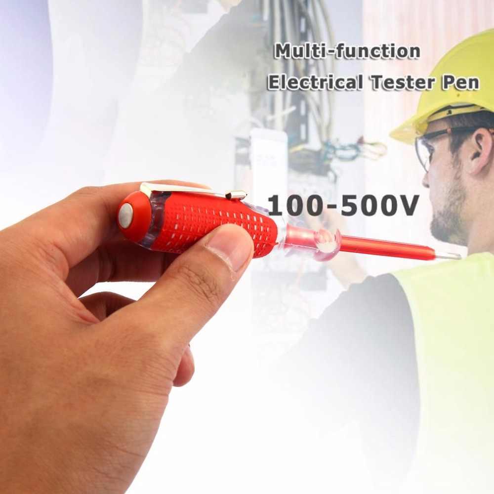 100-500 V デュアルユーステストペンドライバー耐久性のある絶縁電気技師ホームツールテスト鉛筆電気テスターペンツール
