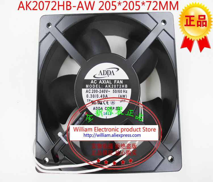 цены New Orirignal ADDA AW AK2072HB AC220V 0.32A 205*70MM chassis power cooling fan