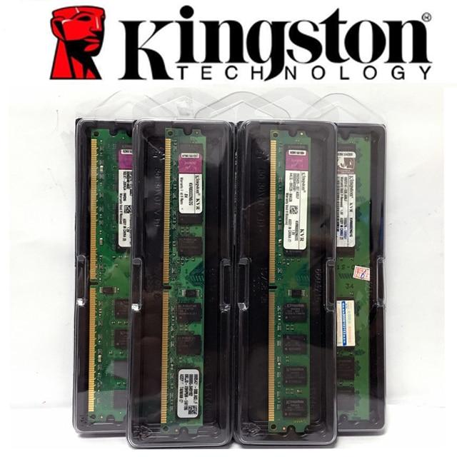 Kingston PC Desktop Do Computador do Módulo de Memória RAM Memoria DDR2 DDR3 1 GB 2 GB 4 GB PC2 PC3 667 800 1333 1600 MHZ 5300 6400 10600 128