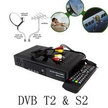 New Digital Terrestrial Satellite TV Receiver Combo dvb t2 + S2 HD 1080P dvb-t2 dvb-s2 tv Box H.264 / MPEG-2/4 ship for Russia