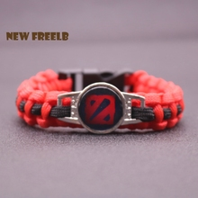 New Arrival Classic Game DOTA 2 Logo Paracord Bracelets Moba Game Series Fashion Outdoor Jewelry for Women and Men fans for Ti7
