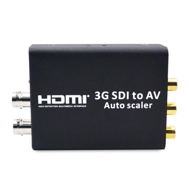 SDI to AV HD 3G SDI to CVBS Converter Auto Scaler Support 1080P L/R Audio Output SD-SDI HD-SDI Signal to Normal TV high quality full hd 1080p 3g sdi to av scaler converter 3g hd sd sdi to r l rca cvbs adapter converter for crt hdtv camera