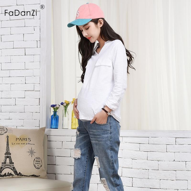 2018 summer new pregnant women pants pregnant women jeans Korean cotton pregnant women jeans trousers Maternity pants clothing стоимость