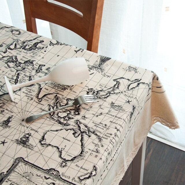 aliexpress : 140x210 cm weltkarte tisch tuch leinen, Esstisch ideennn