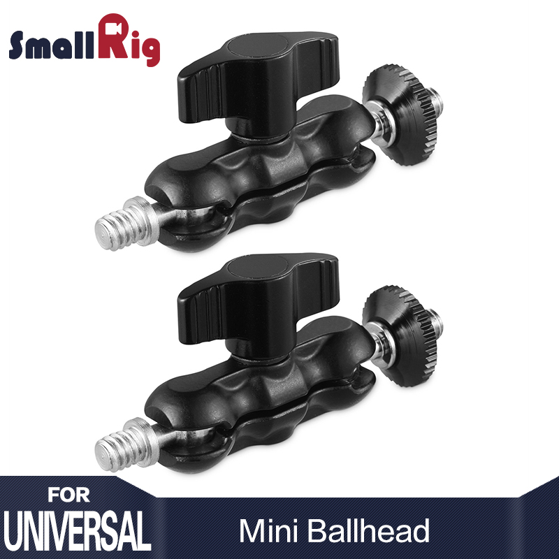 SmallRig 2PCS Adjustable Universal Magic Arm with Mini Ballhead for Camera Monitor / LED Light Support with 1/4 Screw 2158