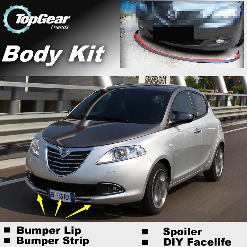 Bumper Lip Deflector Lips For Chrysler / Lancia Ypsilon Front Spoiler Skirt For TopGear Fans Car Tuning View / Body Kit / Strip