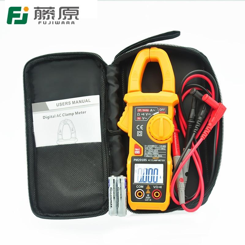 FUJIWARA Digital Clamp Meter Digital Multimeter Ammeter Resistance/ AC / DC/ Voltage cem dt 360 ac clamp meter cem everbest ac ac digital clamp meter 600v ammeter