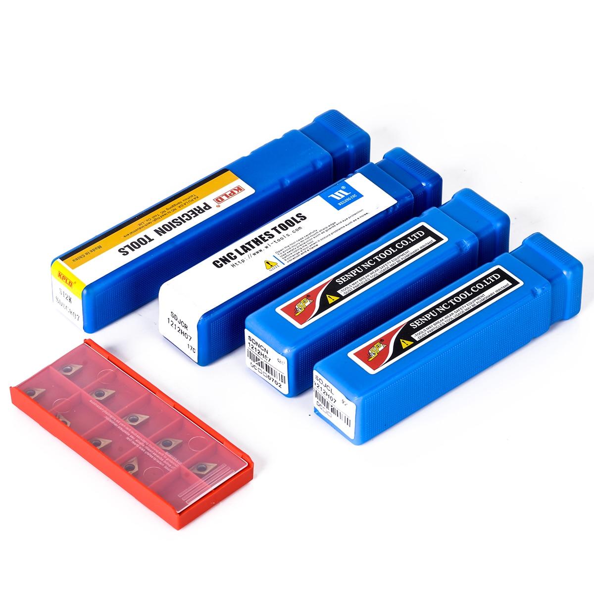 10 pçs dcmt070204 inserções de carboneto lâminas