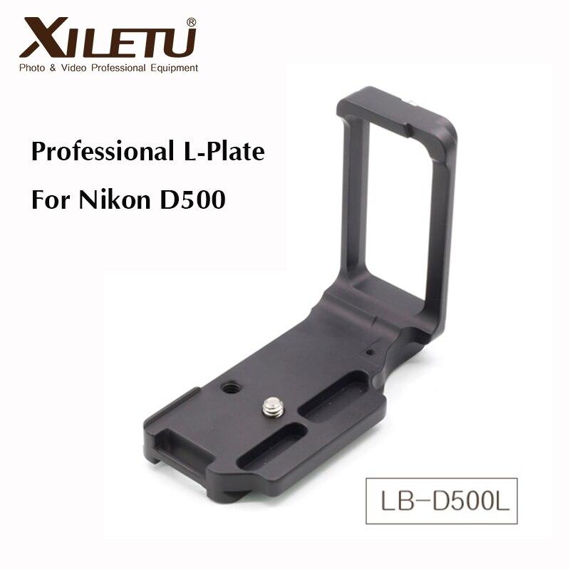 Xiletu LB-D500L Professionnel Trépied Plateau Rapide De Montage Adaptateur Support Pour Nikon D500 Interface Largeur 38mm Arca Suisse