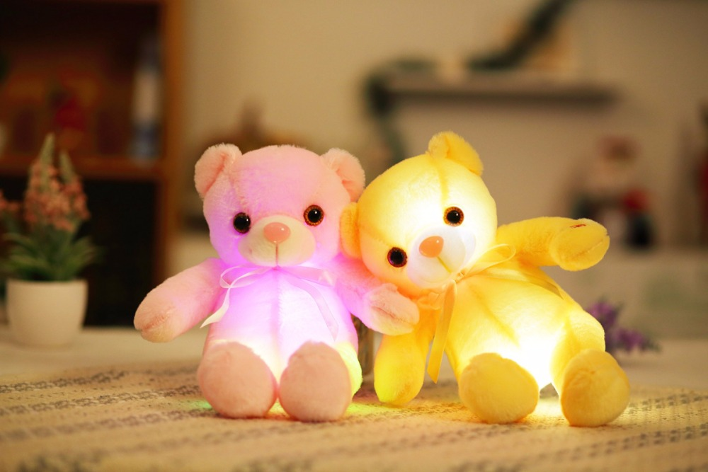 Knuffel Met Licht : Dropshipping 32 cm creatieve licht up teddybeer knuffels led