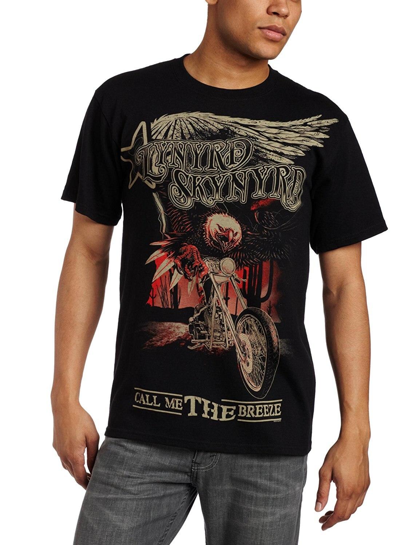 FEA Merchandising Mens Lynyrd Skynyrd Call Me The Breeze T-Shirt