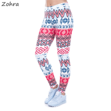 Zohra Autumn Winter High Waist Legging Creative Leggins New African Aztec Legins Printed Women Leggings Sexy Women Pants