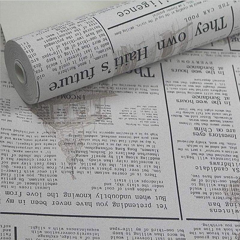 Très PVC Réminiscence Anglais Journal Vintage Style Papier Peint  RO39