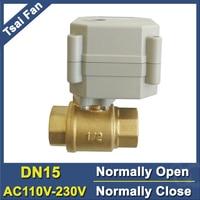 High Quality BSP NPT 1 2 DN15 Brass Normal Open Valve TF15 B2 C AC110 230V