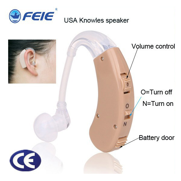 Hearing Aids Deaf Behind Ear Sound Voice Amplifier Hearing Device S-998 Headphones for Deafness Ear Machine Free shipping micro tv in ear canal sound amplifier deaf hearing aids s 215 drop shipping