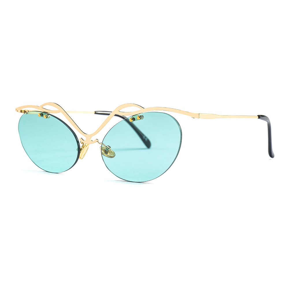 d24a4023cf OFIR 2019 Cat Eye Hollow Rimless Sunglasses Men NEW Classic Oval Glasses  Women Steampunk Movie Eyewear Ultra light Thin Frame-in Sunglasses from  Apparel ...