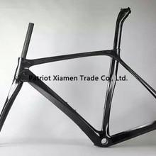 Горячая Распродажа, карбоновая рама для шоссейного велосипеда, карбоновая рама для шоссейного велосипеда, окрашенная без логотипа, матовая или глянцевая