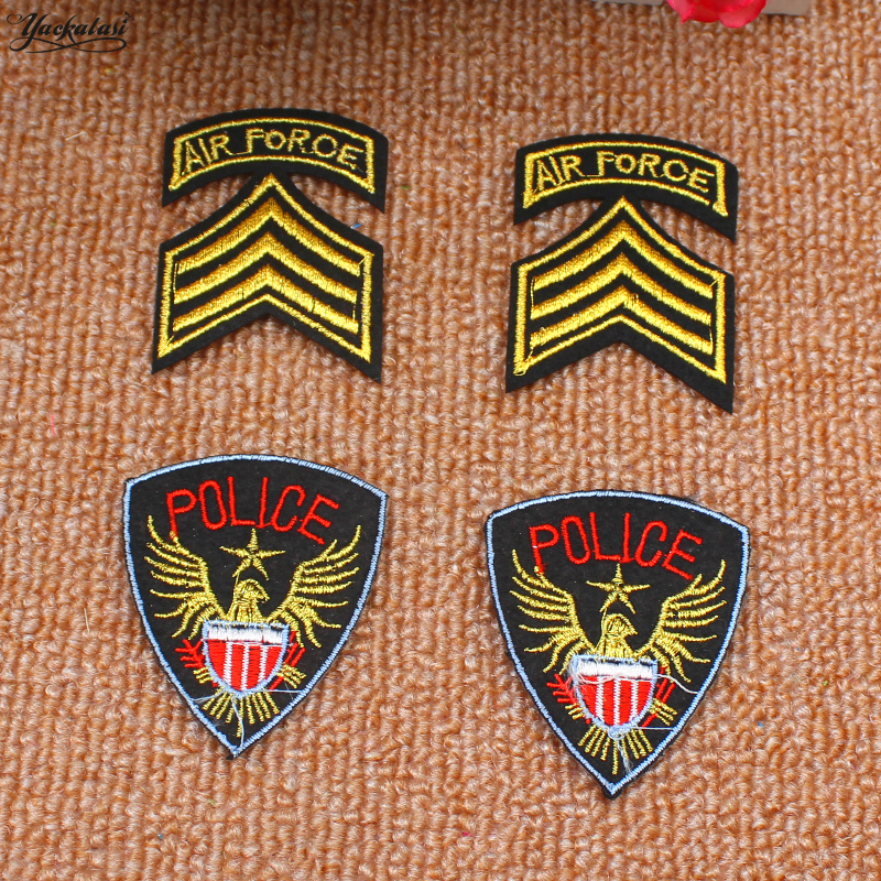Yackalasi 30 Pieces/lot 3d Embroidered Badges Army Force/police Appliqued Iron On Flower Birds Animal Emblem Budge Clearance Price Apparel Sewing & Fabric Home & Garden