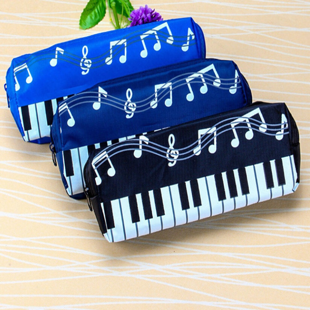 2019 Korean Version Musical Piano Keyboard Storage Bag Stationery Cosmetic Bag Music Pen Bags Box Storage Bag School-supplies