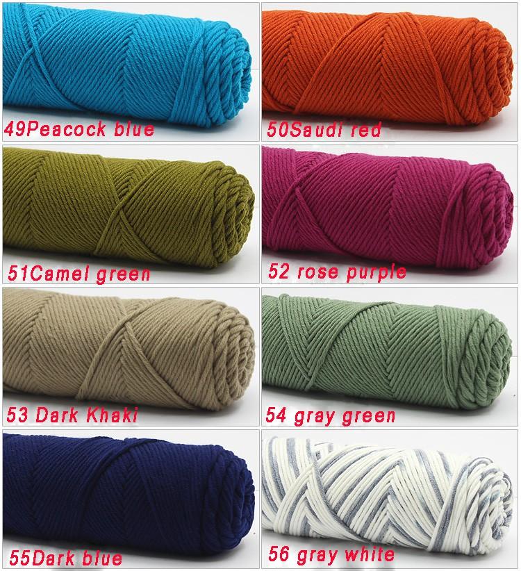 100g/pcs Natural Soft Silk Milk Cotton Yarn Thick Yarn For Knitting Lover Scarves Knitting Wool crochet yarn weave thread 13