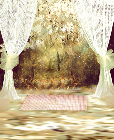 Vintage Photography Backdrops Green Forest White Curtain Wedding Photo Background for Studio Custom Digital Printed Backdrops 200 300cm wedding background photography custom vinyl backdrops for studio digital printed wedding photo props