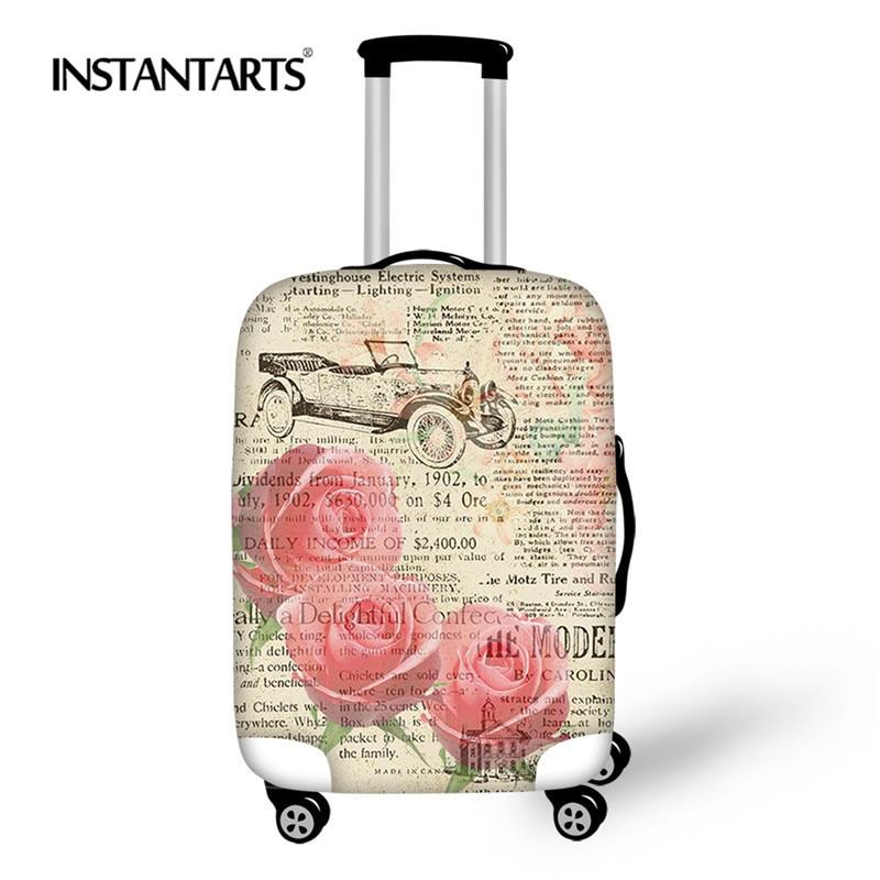 INSTANTARTS Vintage rosa Floral imprimir moda elástico funda protectora de  equipaje bolso hombres mujeres Casual la maleta para 18-30 pulgadas 2da7359946ca