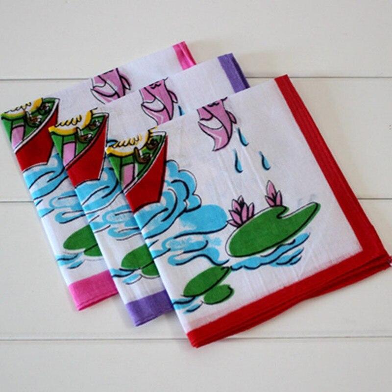 Children's Handkerchief Cotton Animal Panda Fishing Child Handcuffs 10Pcs/Lot