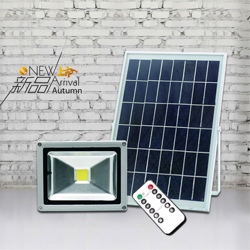 Super bright 20W led solar panel floodlight Remote control Outdoor waterproof Garden Light Path Wall Outdoor Emergency Lamp