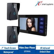 Home Security Video font b Door b font Bell Phone Wired Intercom Doorbell 2 7 inch