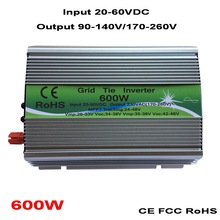 600W Grid Tie Inverter MPPT Function 20-60VDC input 110V 230VAC Micro Grid Tie Pure Sine Wave Inverter 22V 60V to 110V 220V
